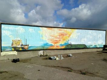 Richard Jeferies: Fighting Temeraire mural Sheppey