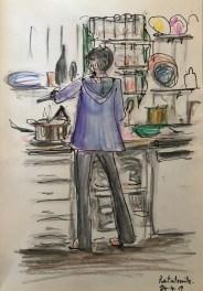 Griselda Cann Mussett: Nathalie makes ratatouille