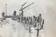 Griselda Cann Mussett: Queueing at Sainsburys (2020)