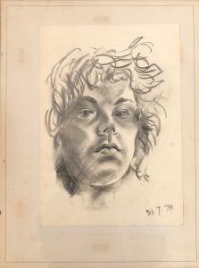Griselda Cann Mussett: Charcoal Selfie (1978)