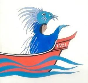 The Blue Sea Porcupine, Sarah Sparkes, Gouache on paper, 2020