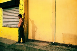 El Salvador, Yellow Wall, Lifestyle, Street photography,