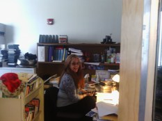 Dundee Library Superintendent Julie Feagle seen here in her office .