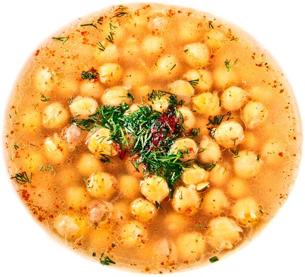 паровой нутовый суп