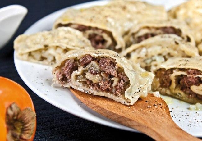 хунон (ханум) с мясной и с картофельной начинкой