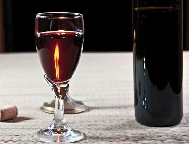 готовое домашнее вино из малины