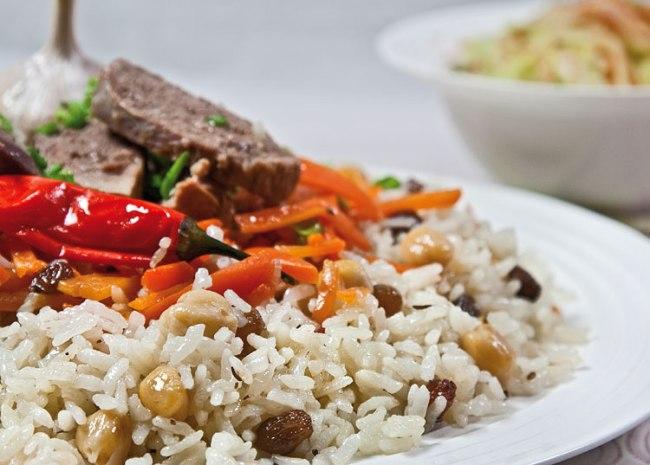 бухарский раздельный плов софи из откидного риса