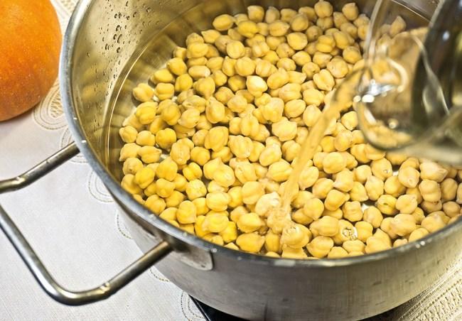 подготовка нута для рисовой каши