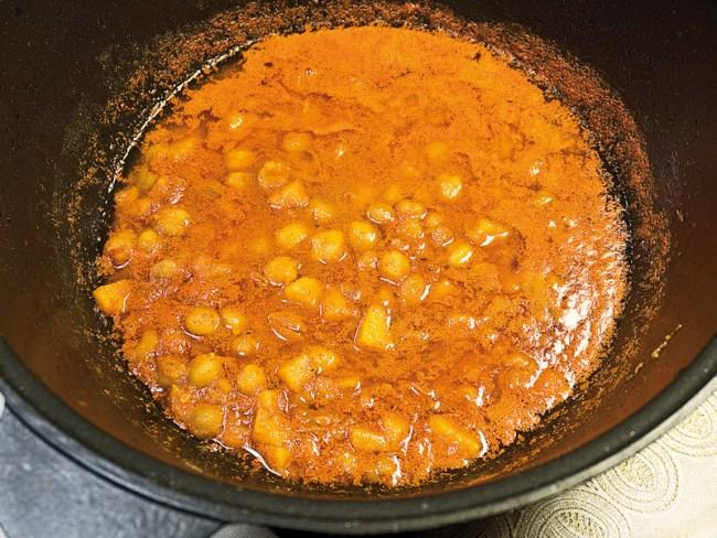 доведение соуса до кипения при приготовлении рисовой каши