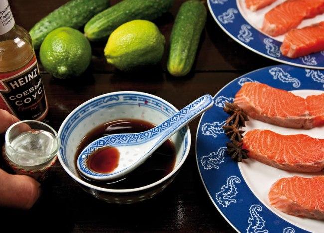 подготовка маринада для сёмги юань
