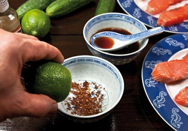 подготовка маринада для сёмги янг