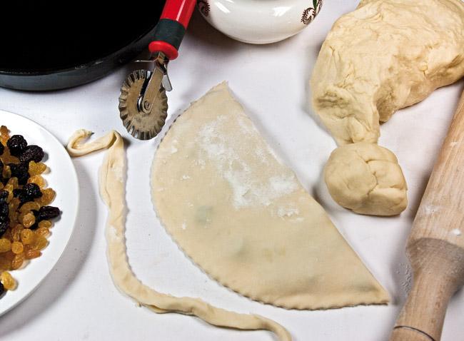 формирование сладкого чебурека ляваш