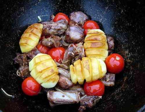 добавление обжаренного картофеля