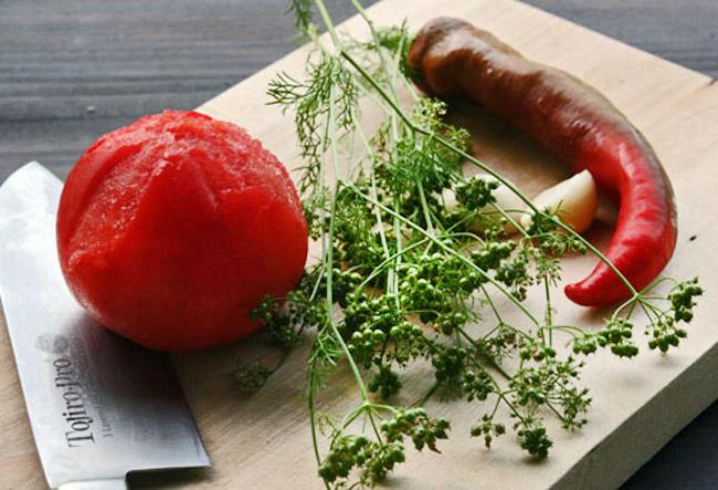 продукты для холодного соуса к запеченному карпу