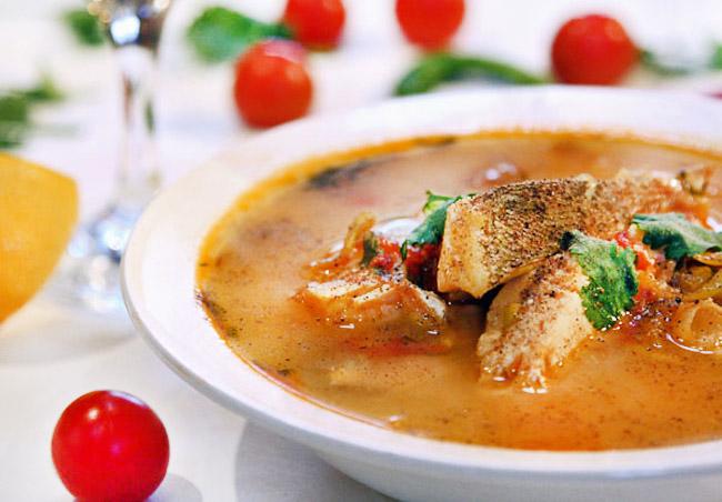 подача и сервировка заправочного рыбного супа-ля буйабес от дундука-кулинара