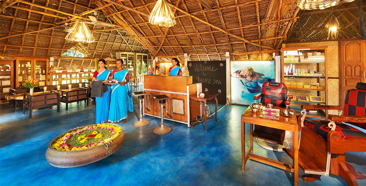 Chopra healing center members welcoming guests