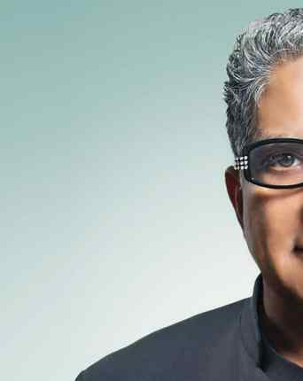 Portrait of Deepak Chopra to welcom new comers at the First Deepak Chopra Healing Center in India