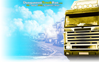 desktop background of the truck run