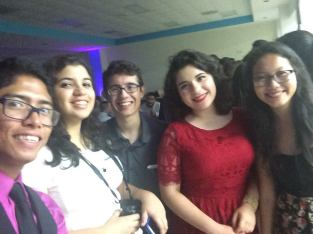 Here I am with a group of friends during Senior Social, my first Senior event of the year!