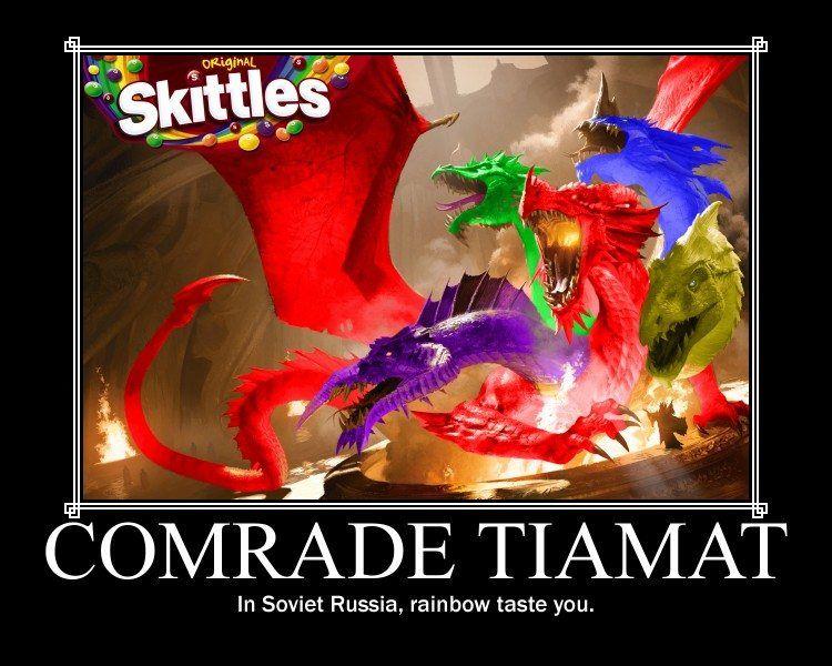 In Soviet Russia, rainbow taste you.