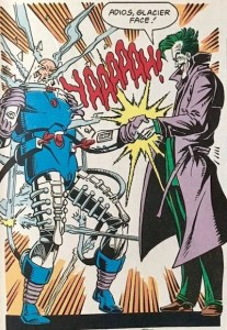 Shocking grasp being used by The Joker in the form of a joy buzzer.