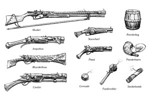Guns and firearms in D&D