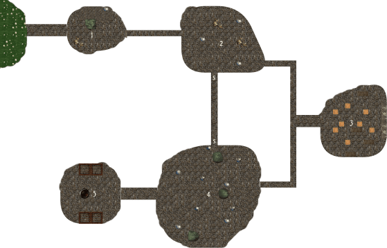 One Page Dungeon 2018 Map