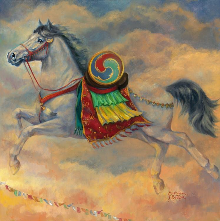 ... the tibetan prayer flags which bear their name lung ta the windhorse