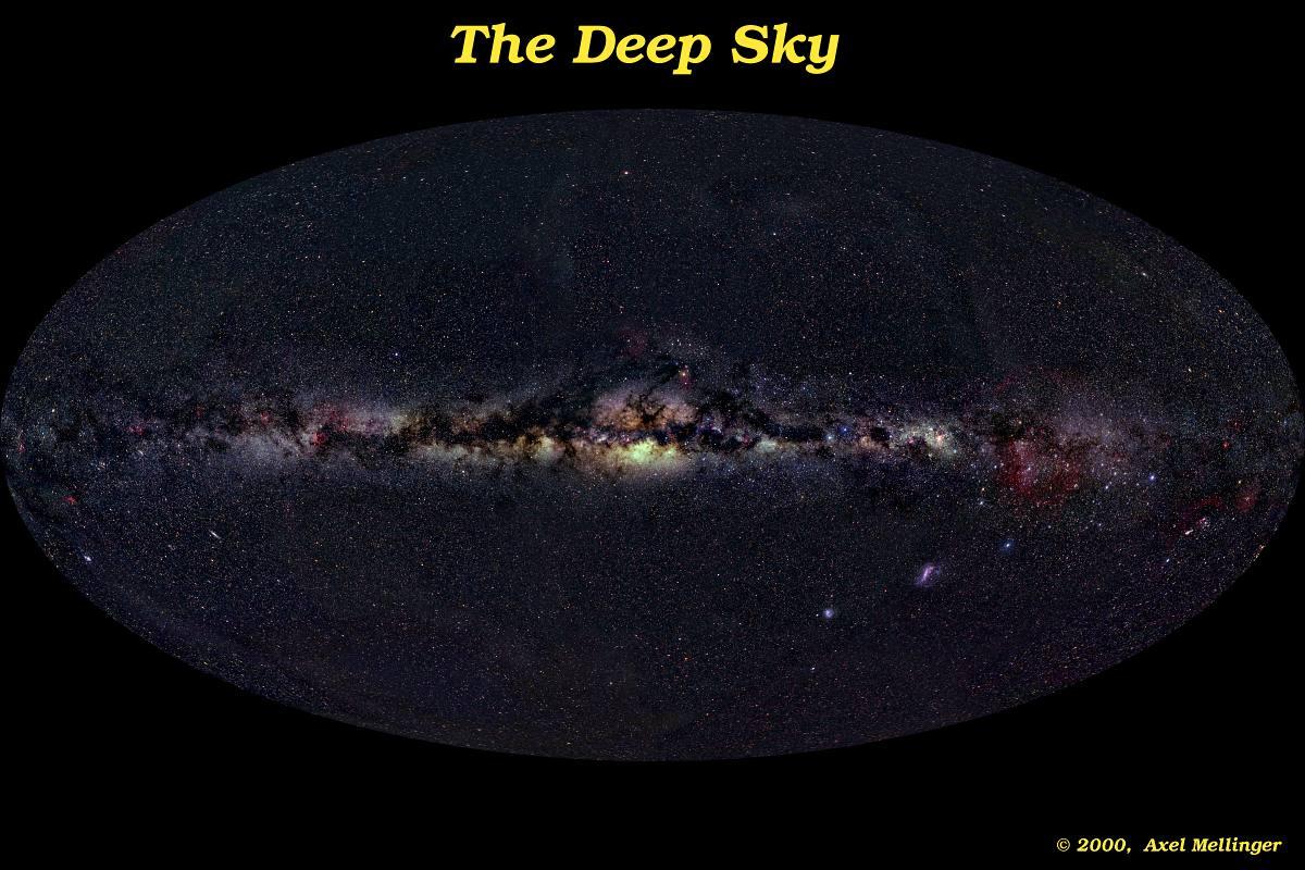 Galaksi Bimasakti di panjang gelombang visual