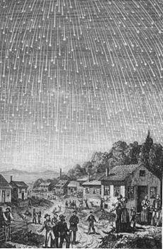Badai Meteor Leonid 1833 (Sumber: Wikipedia)