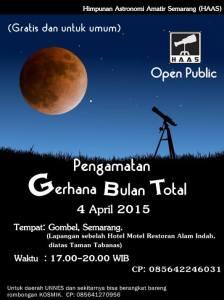 Poster Pengamatan GBT di Semarang