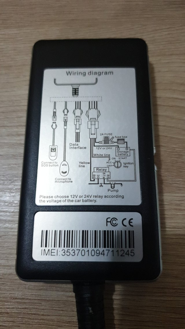 Wiring gps tracker gt06n