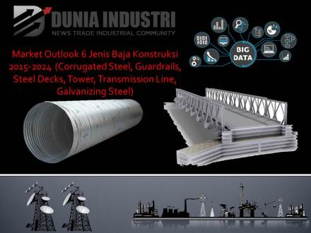 "<span itemprop=""name"">Market Outlook 6 Jenis Baja Konstuksi 2015-2024 (Corrugated Steel, Guardrails, Steel Decks, Tower, Transmision Line, Galvanizing Steel)</span>"