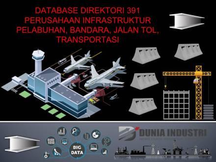 "<span itemprop=""name"">Database Direktori 391 Perusahaan Infrastruktur Pelabuhan, Bandara, Jalan Tol, dan Transportasi</span>"
