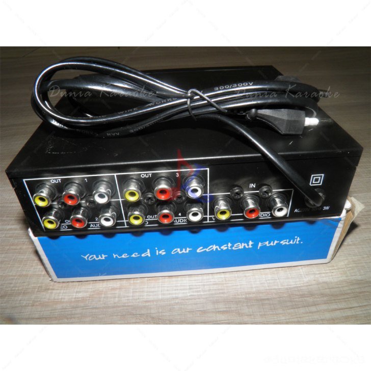 Audio Video Splitter Usat 104VA