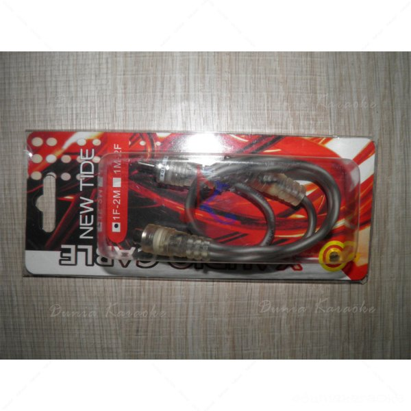 Kabel RCA Y Adapter New Tide Single Female RCA to Dual Male RCA