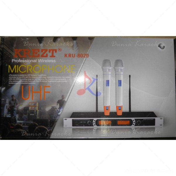 Microphone Wireless Krezt KRU 8020