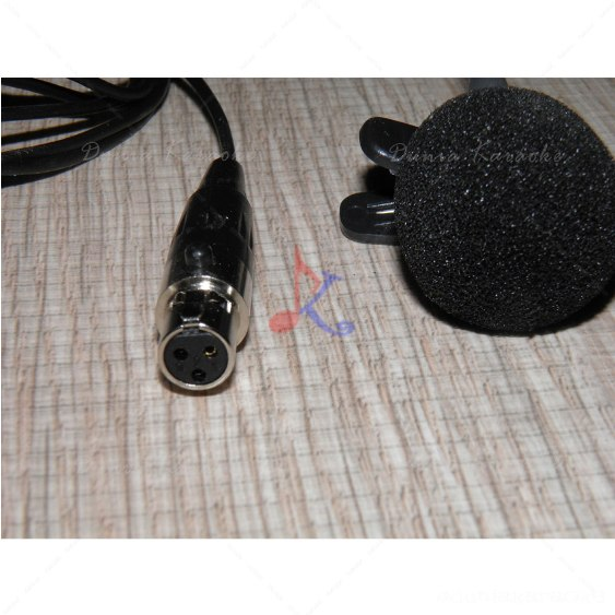 Clip Microphone TA4F Mini 3 PIN XLR Connector For Wireless microphone bodypack Transmitter