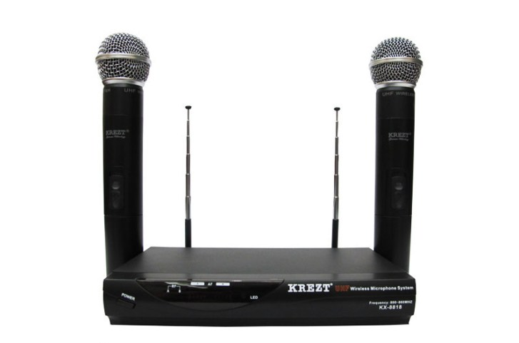 Mic Wireless Krezt KX 8818