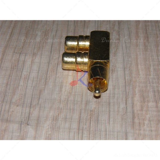 RCA Y Splitter Gold Adapter 1 Male to 2 Female