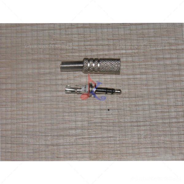 Jack Stereo Mini 3,5 mm solder Chrome Audio Plug