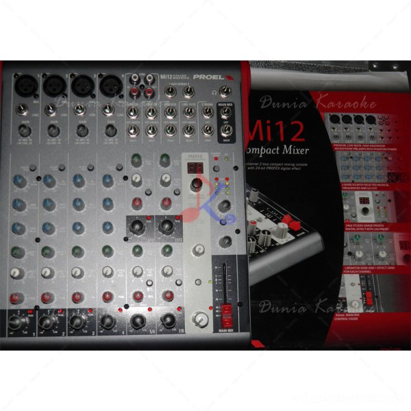 Mixer Proel MI-12 with DSP Digital Effect