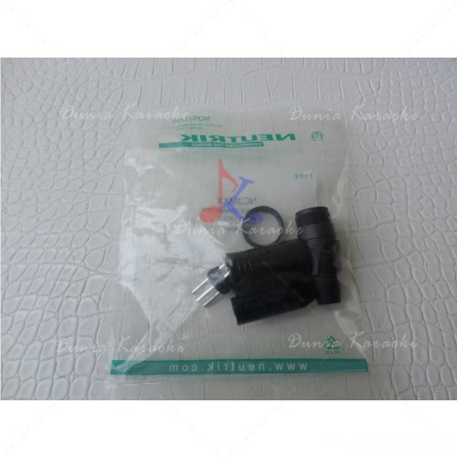 Jack Canon Neutrik NC3MXX Male 3 Pole Black XLR Cable Connector
