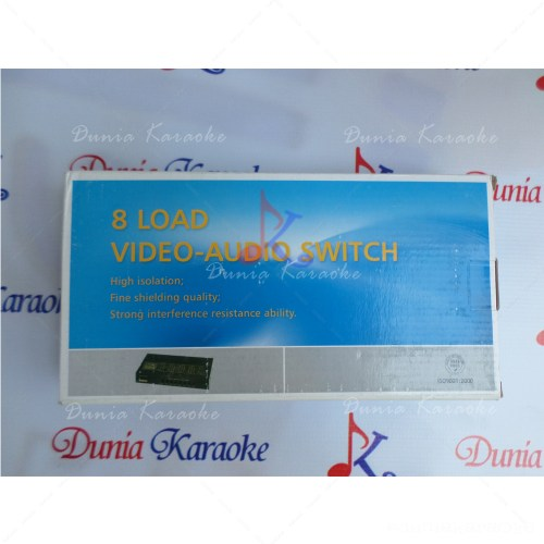 Audio Video Selektor 8 Load Video-Audio Switch S82VA 8 In 2 Out Selector