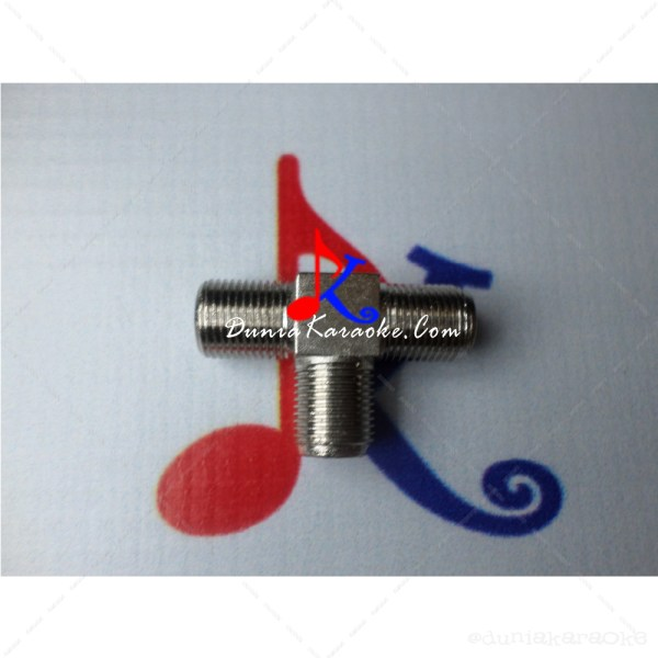 Jack Konektor F Type Female 3 Ways Joiner Splitter Adapters for Antenna Cables