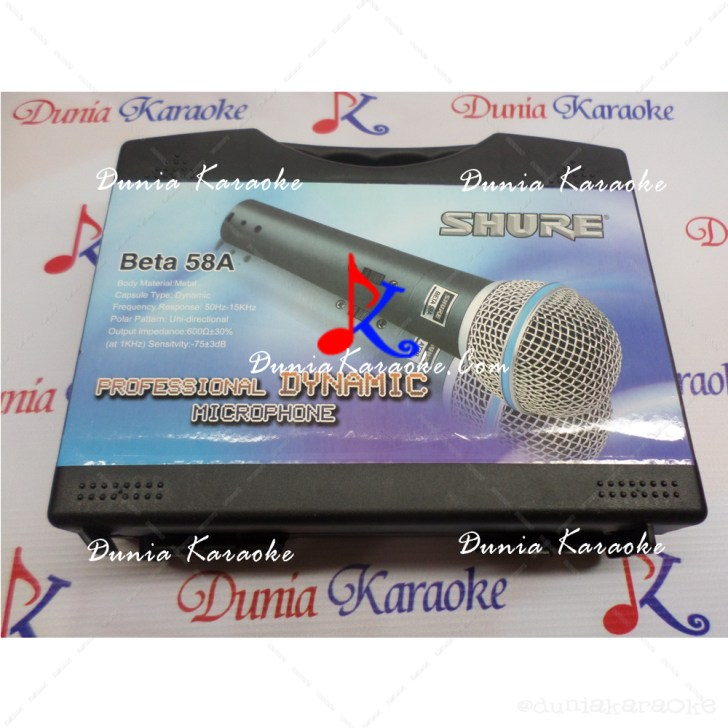 Microphone Kabel Shure Beta 58A Non Switch With Plastic Case