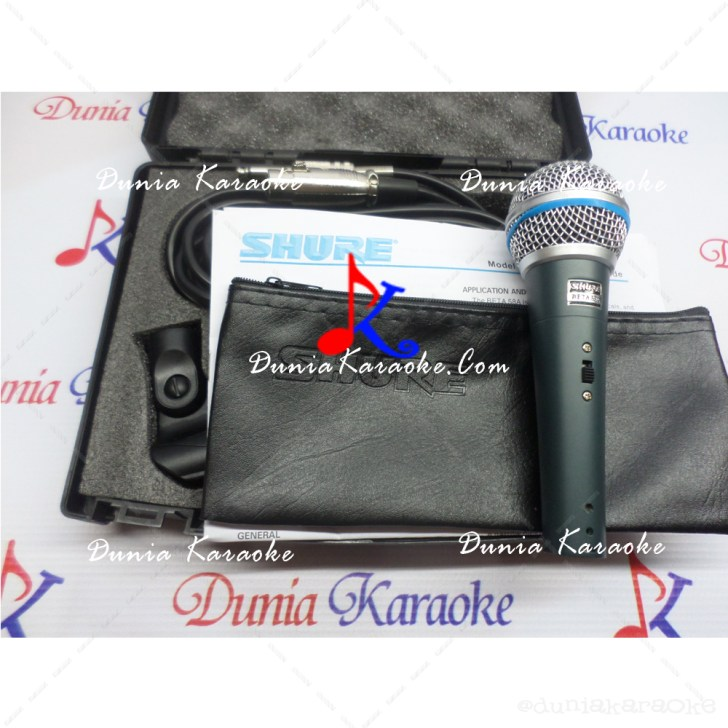 Microphone Kabel Shure Beta 58A Switch With Plastic Case