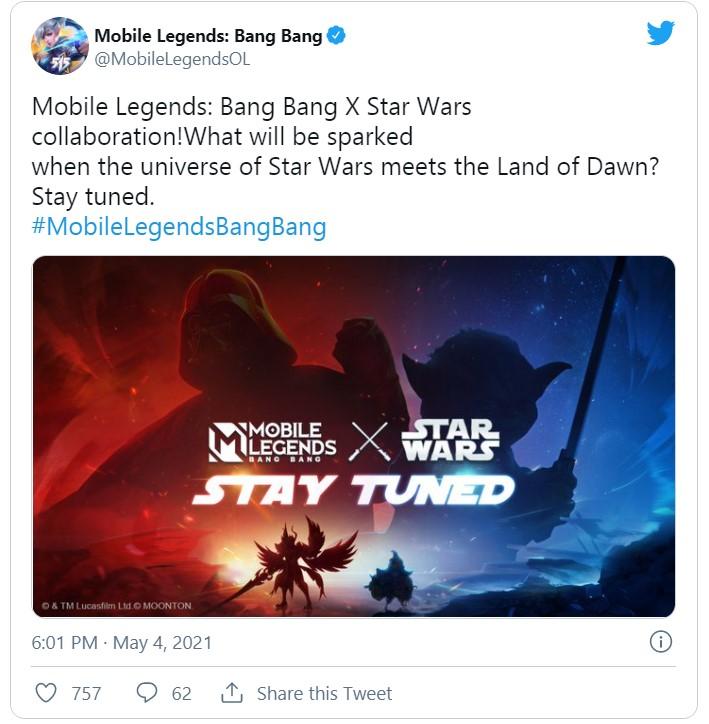 mobile legends akan berkolaborasi dengan star wars