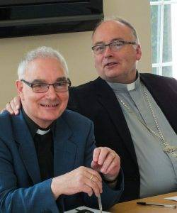 Fr Jim High with Bishop Stephen