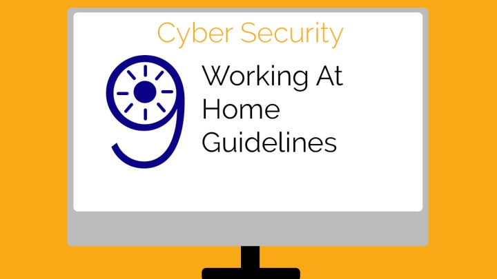 Working at home guidelines